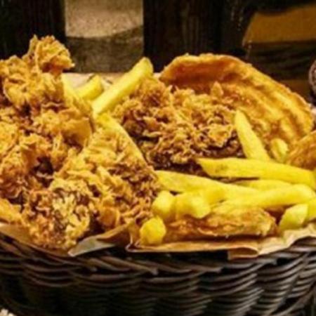 مرغ سوخاری سه تیکه