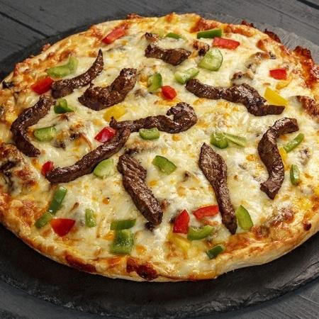 پیتزا فیله استیک