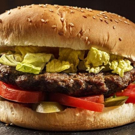 همبرگر زغالی