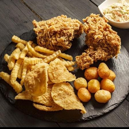 مرغ سوخاری دو تیکه